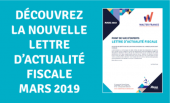 LBA WALTER FRANCE | ACTUALITES FISCALES MARS 2019