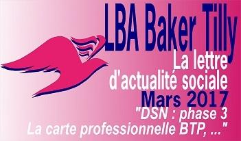 Actualités sociales Mars 2017 LBA Baker Tilly Nantes