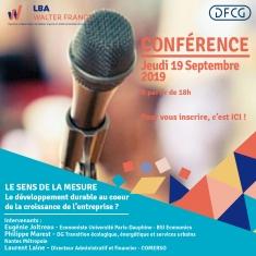 Conférence  LBA WALTER France DFCG